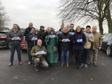 campaigning in Hanslope